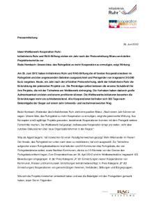 Pressemitteilung. 26. Juni 2013