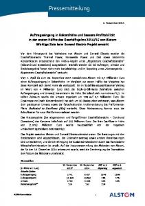 Pressemitteilung. 30. September 2013*