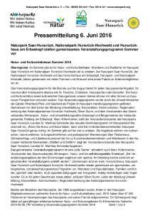 Pressemitteilung 6. Juni 2016