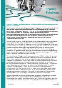 Pressemitteilung Press Release