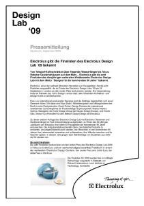 Pressemitteilung Stockholm, September 2009