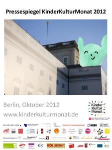 Pressespiegel KinderKulturMonat Berlin, Oktober 2012