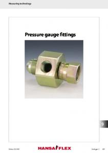 Pressure gauge fittings