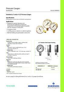 Pressure Gauges Accessories