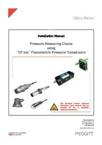 Pressure Measuring Chains using CP xxx Piezoelectric Pressure Transducers