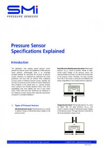 Pressure Sensor Specifications Explained