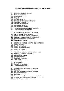 PRESTACIONES PROFESIONALES DEL ARQUITECTO