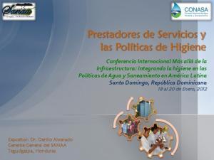 Prestadores de Servicios y las Políticas de Higiene