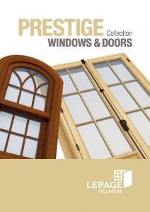 Prestige Collection. Windows & Doors