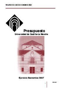 Presupuesto Universidad de Castilla-La Mancha