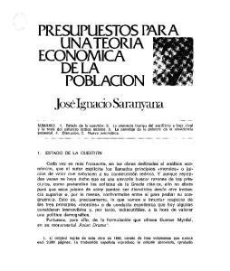 PRESUPUESTOS PARA UNATEORIA ECONOMICA DE LA POBLACION