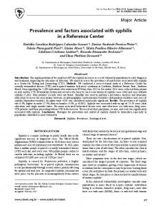 Prevalence and factors associated with syphilis in a Reference Center
