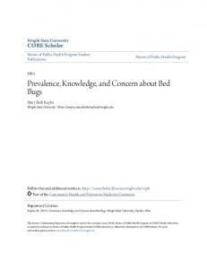 Prevalence, Knowledge, and Concern about Bed Bugs
