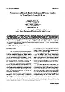 Prevalence of Black Tooth Stains and Dental Caries in Brazilian Schoolchildren