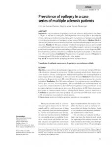Prevalence of epilepsy in a case series of multiple sclerosis patients