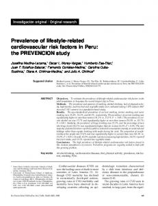 Prevalence of lifestyle-related cardiovascular risk factors in Peru: the PREVENCION study