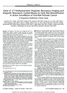 Prevalence of low-risk prostate cancer has increased because of