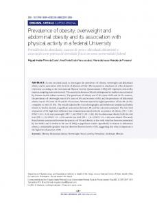 Prevalence of obesity, overweight and abdominal obesity and its association with physical activity in a federal University