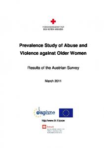 Prevalence Study of Abuse and Violence against Older Women