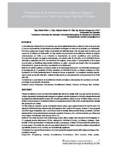 Prevalencia de la incontinencia urinaria en mujeres embarazadas en el Centro de Salud Familiar El Roble