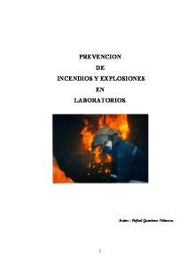 PREVENCION DE INCENDIOS Y EXPLOSIONES EN LABORATORIOS