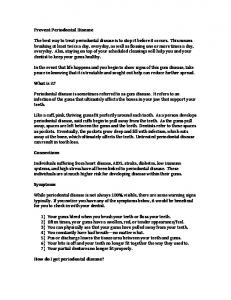 Prevent Periodontal Disease