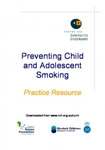 Preventing Child and Adolescent Smoking