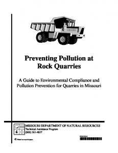 Preventing Pollution at Rock Quarries