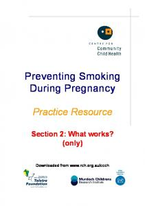 Preventing Smoking During Pregnancy