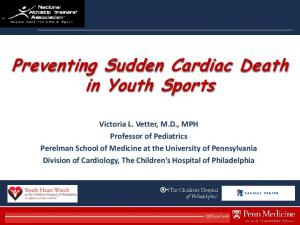 Preventing Sudden Cardiac Death in Youth Sports