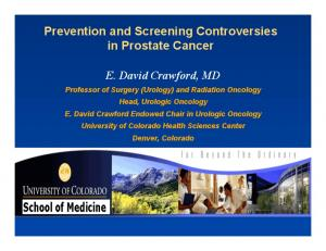 Prevention and Screening Controversies in Prostate Cancer