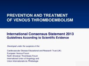 PREVENTION AND TREATMENT OF VENOUS THROMBOEMBOLISM