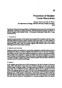 Prevention of Bladder Tumor Recurrence