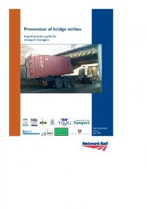 Prevention of bridge strikes. A good practice guide for transport managers