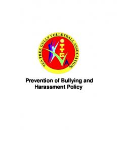 Prevention of Bullying and Harassment Policy