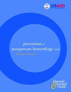 prevention of postpartum hemorrhage study
