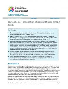 Prevention of Prescription Stimulant Misuse among Youth
