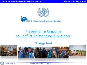 Prevention & Response to Conflict-Related Sexual Violence
