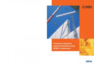 Preventive explosion and fire protection using HEBEL components