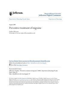 Preventive treatment of migraine