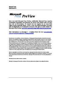 PreView. Mehr Informationen zu Silverlight 3 Crashkurs finden Sie unter
