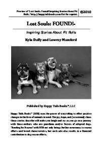 Preview of Lost Souls: Found! Inspiring Stories About Pit Bulls.  Not for reprint Lost Souls: FOUND!