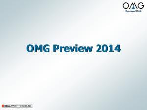 Preview OMG Preview 2014 CZAIA MARKTFORSCHUNG