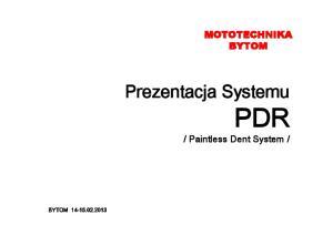 Prezentacja Systemu PDR