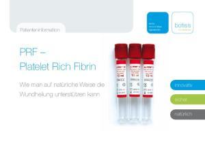 PRF Platelet Rich Fibrin