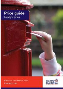 Price guide Oayllys-prios