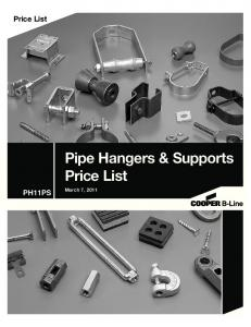 Price List. Pipe Hangers & Supports. Price List PH11PS