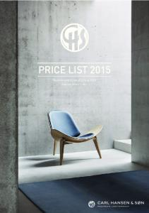 PRICE LIST Recommended retail prices USD. Valid from January 1 st, 2015
