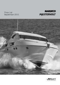 Price List September 2012