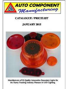 PRICELIST JANUARY 2015